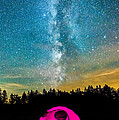 The Midnight Camper Pink Tent by Michael Ver Sprill
