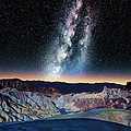 The Milky Way Over Zabriskie Point by Matt Anderson Photography