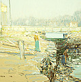 The Mill Dam Cos Cob by Childe Hassam