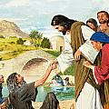 The Miracles Of Jesus  Making The Lame Man Walk by Clive Uptton