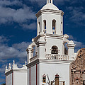 The Mission Tower At San Xavier by Ed Gleichman