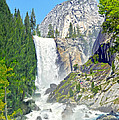 The Mist Trail At Vernal Fall by Steven Barrows
