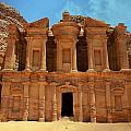 The Monastery At Petra by Stephen Stookey
