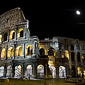 The Moon Above The Colosseum No1 by Weston Westmoreland