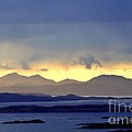 The Mountains Of Mull Seen Over The Sound Of Jura Inner Hebrides Scotland From Above Crinan by David Lyons
