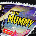 The Mummy Postage Stamp Print by Andy Prendy