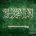 The National Flag Of  Kingdom Of Saudi Arabia  Vintage Version by Bruce Stanfield