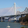 The New And The Old Bay Bridge San Francisco Oakland California 5d25405 by Wingsdomain Art and Photography
