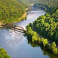 The New River From Hawks Nest by Mary Almond