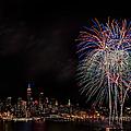 The New York City Skyline Sparkles by Susan Candelario