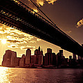 The New York City Skyline - Sunset by Vivienne Gucwa