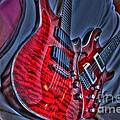 The Next Red Thing Digital Guitar Art By Steven Langston by Steven Lebron Langston