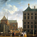 The Nieuwe Kerk And The Rear Of The Town Hall In Amsterdam  by Isaak Ouwater