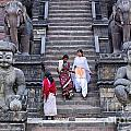 The Nyatapola Temple At Bhaktapur In Nepal by Robert Preston