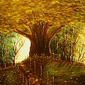 The Oak Tree-original Sold-buy Giclee Print Nr 31 Of Limited Edition Of 40 Prints  by Eddie Michael Beck