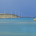 The Old- And New 7 Mile Bridge by Hans- Juergen Leschmann