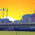 The Old And New Yankee Stadiums Side By Side At Sunset by Nishanth Gopinathan