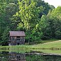 The Old Barn On The Pond by Sherri Quick