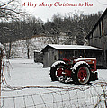 The Old Family Farm Christmas Card by Roger Potts