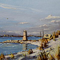 The Old Lighthouse At Rockaway Point by Thomas Kearon