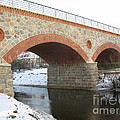 The Old Railway Bridge In Silute. Lithuania. Winter by Ausra Huntington nee Paulauskaite