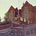 The Old Schools, Harrow Oil On Canvas by Julian Barrow