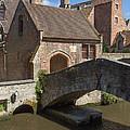 The Old Stone Bridge In Bruges by Jaroslav Frank