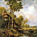 The Old Windmill Near Barbizon by Narcisse Virgile Diaz de la Pena