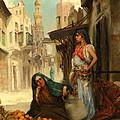 The Orange Seller by Fabbio Fabbi
