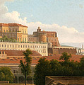 The Palazzo Reale And The Harbor. Naples by Alexandre-Hyacinthe Dunouy