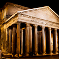 The Pantheon At Night - Painting by Weston Westmoreland