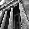 The Pantheon In Rome Bw by Mike Nellums