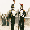 The Parisian Municipale Guard, Formed 29th July 1830 Coloured Engraving by French School