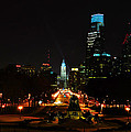 The Parkway At Night by Bill Cannon