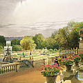 The Parterre Harewood House Near Leeds by E Adveno Brooke