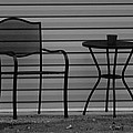 The Patio Chairs In Black And White by Rob Hans