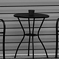 The Patio In Black And White by Rob Hans