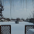 The Patio In Winter by Susan Wyman