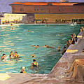 The Peoples Pool, Palm Beach, 1927 by Sir John Lavery