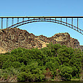 The Perrine Memorial Bridge Twin Falls Idaho by Michael Rogers