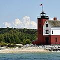Round Island Lighthouse Mackinac The Picnic Spot by Marysue Ryan