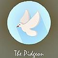 The Pidgeon Cute Portrait by Florian Rodarte