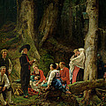 The Pilgrims From The Abbey Of St. Odile Oil On Canvas by Gustave Brion