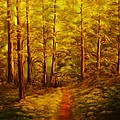 The Pine Tree Forest-original Sold-buy Giclee Print Nr 34 Of Limited Edition Of 40 Prints  by Eddie Michael Beck