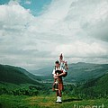 The Piper At The Great Glen by Joan-Violet Stretch