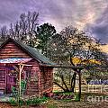 The Play House At Sunset Near Lake Oconee. by Reid Callaway