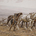 The Ploughman Wilmington Polegate Near Eastbourne by Joseph Harold Swanwick