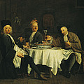 The Poet Alexis Piron 1689-1773 At The Table With His Friends, Jean Joseph Vade 1720-57 And Charles by Etienne Jeaurat
