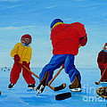 The Pond Hockey Game by Anthony Dunphy