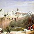 The Pool  Of Bethesda Jerusalem by Munir Alawi